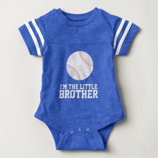 """I'm the Little Brother"" Baseball Jersey Number Baby Bodysuit"