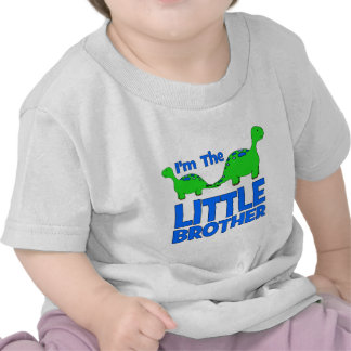 I'm The LITTLE BROTHER!  Custom Dinosaur Gift Tshirts