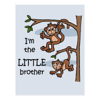 I'm the Little Brother postcard