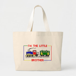 I'm The Little Brother (Train) Large Tote Bag