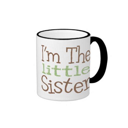 I'm The Little Sister (Green) Ringer Coffee Mug
