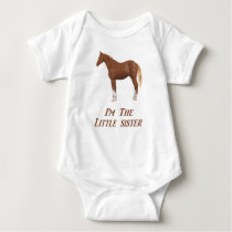 I'm the little sister horse apparel baby bodysuit