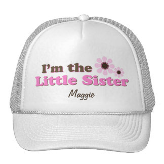 I'm The Little Sister Mod Flowers Personalized Hats