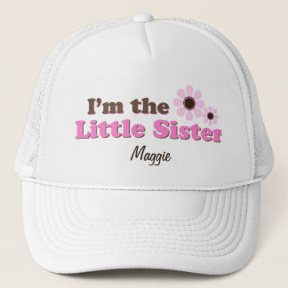 I'm The Little Sister Mod Flowers Personalized Trucker Hat