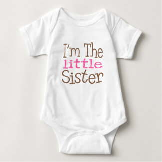 I'm The Little Sister (Pink) Baby Bodysuit
