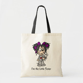 I'm the Little Sister totebag Canvas Bags