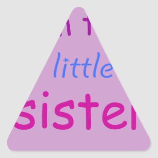 I'm the little sister triangle sticker