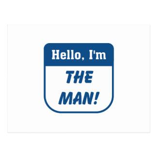 I'm the man t-shirts. postcard