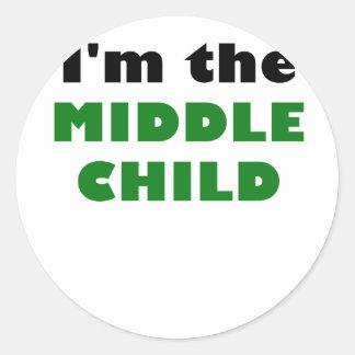 Im the Middle Child Classic Round Sticker