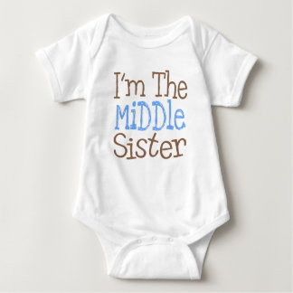 I'm The Middle Sister (Blue) Baby Bodysuit