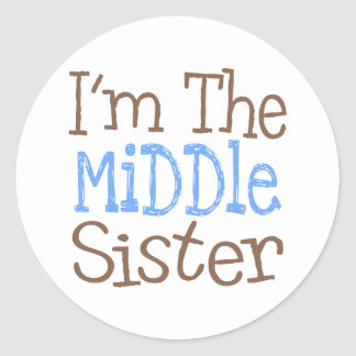 I'm The Middle Sister (Blue) Classic Round Sticker
