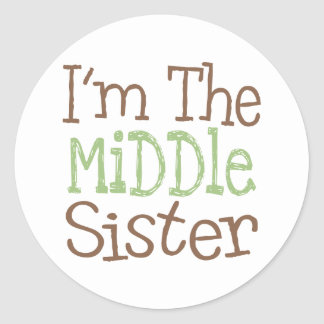 I'm The Middle Sister (Green) Classic Round Sticker