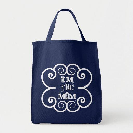 """I'm the Mom"" shopping tote bag"