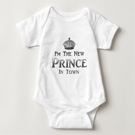 I'm The New Prince In Town Baby Bodysuit
