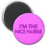 I'm the Nice Nurse 2 Inch Round Magnet