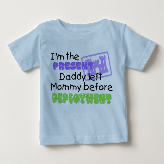 I'm the present Daddy left Mommy Engineer Baby T-Shirt