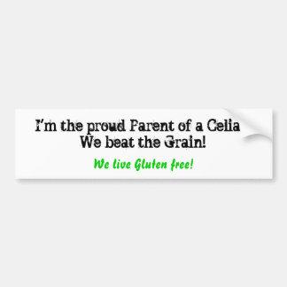 I'm the proud Parent of a Celiac!We beat the Gr... Bumper Sticker