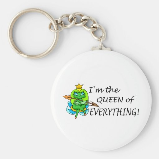 Im The Queen Of Everything (Frog) Keychain