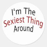 I'm The Sexiest Thing Around Classic Round Sticker