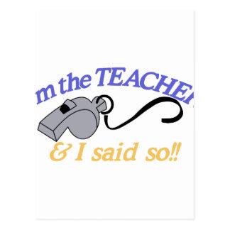 Im The Teacher Postcard