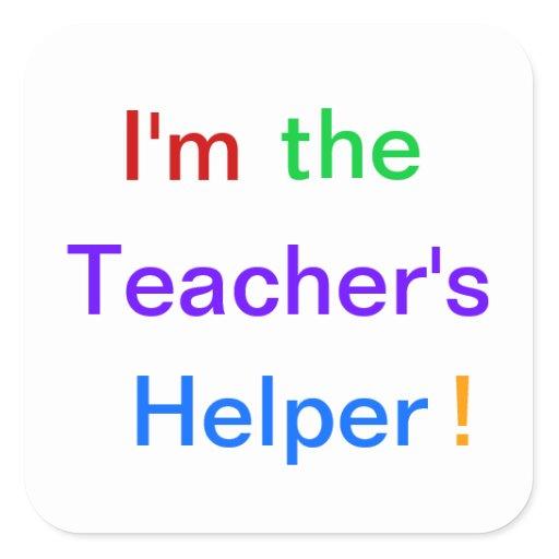 The teacher s helper quot stickers zazzle