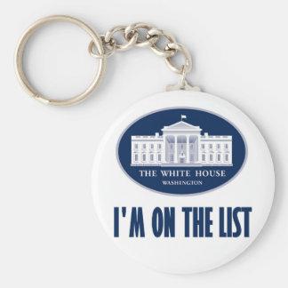 I'm the (White House) List Basic Round Button Keychain