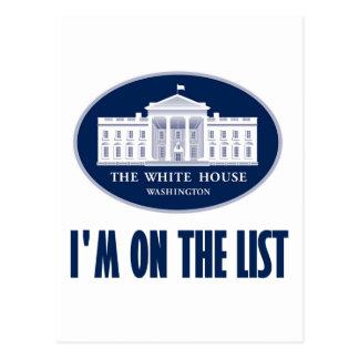 I'm the (White House) List Postcard