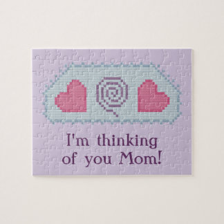 I'm thinking of you Mom! Hearts Spiral Puzzle