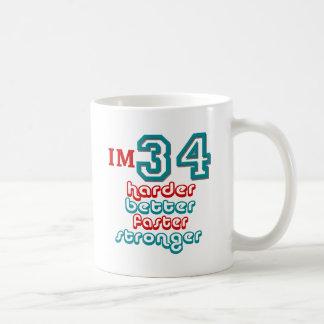 I'm Thirty Four. Harder Better Faster Stronger! Bi Mugs