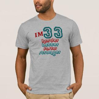 I'm Thirty Three. Harder Better Faster Stronger! B T-Shirt