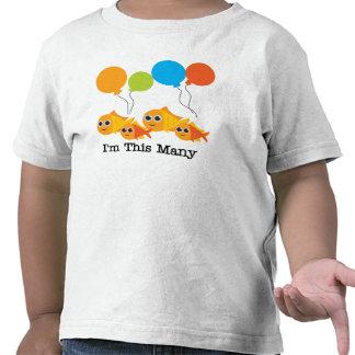 I'm This Many-Four Tee Shirt