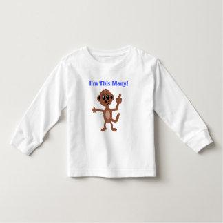 I'm This Many Monkey T-Shirt