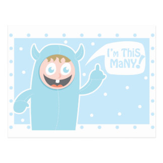 I'm this many postcard