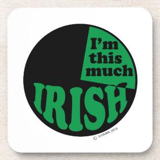 I'm This Much Irish Drink Coasters