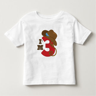 Im Three Cowboy Birthday Tee Shirt