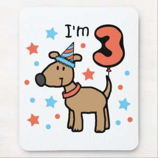 I'm Three Doggie Mouse Pad