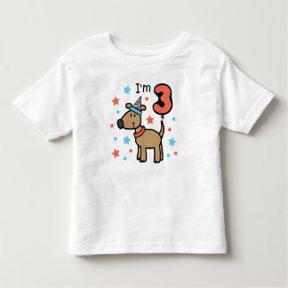 I'm Three Doggie T-shirt
