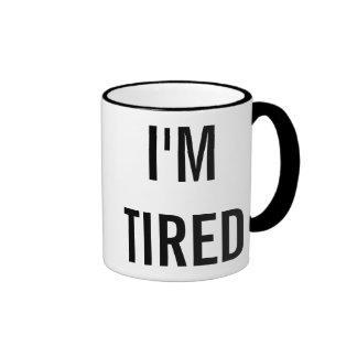 I'm Tired New Parent Gift Ringer Mug