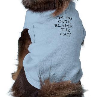 I'M TO CUTE BLAME THE CAT TEE