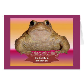 I'm Toadally In Love Card