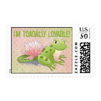 I'm Toadally Lovable! - Frog Postage