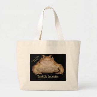 I'm Toadally Loveable Large Tote Bag