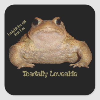 I'm Toadally Loveable Square Sticker