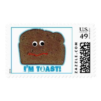 I'm toast! parody humorous Postage