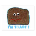 I'm toast! parody humorous Postcard