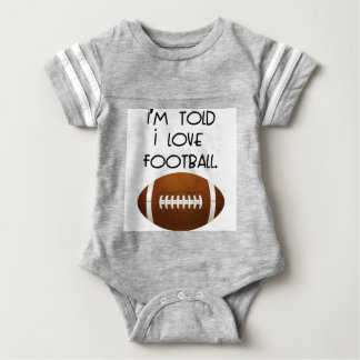 I'm Told I Love Football Baby Bodysuit