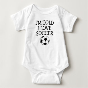 Im Told I Like Hockey Baby Bodysuit Infant One Piece or Toddler T-Shirt