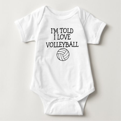 I'm Told I Love volleyball Baby Bodysuit