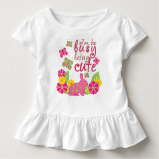 I'm too busy being cute bunny and butterflies toddler t-shirt