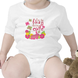 I'm too busy being cute bunny and butterflies tshirts